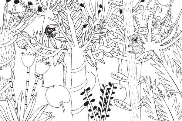 Pátračka v džungli – najdi a vybarvi!