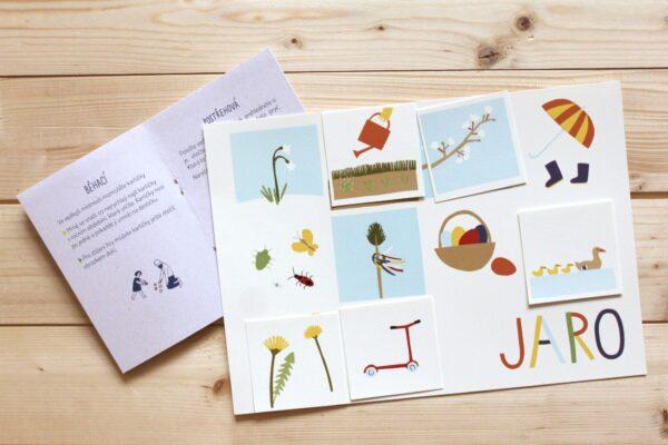 Roční období – obrázkové kartičky + hrací archy + nápady na hry