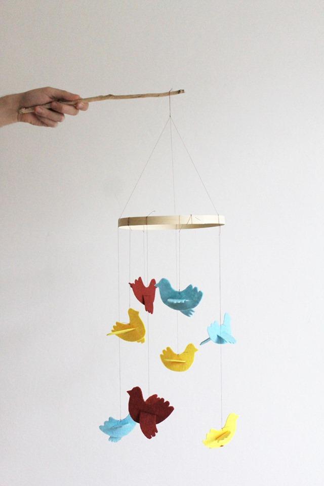 Ptačí kolotoč – šablona